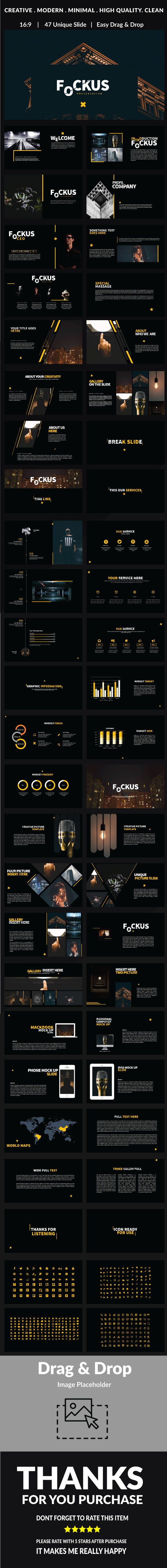 Fockus - Multipurpose Powerpoint - #PowerPoint #Templates #Presentation Templates Download here: https://graphicriver.net/item/fockus-multipurpose-powerpoint/19534286?ref=alena994
