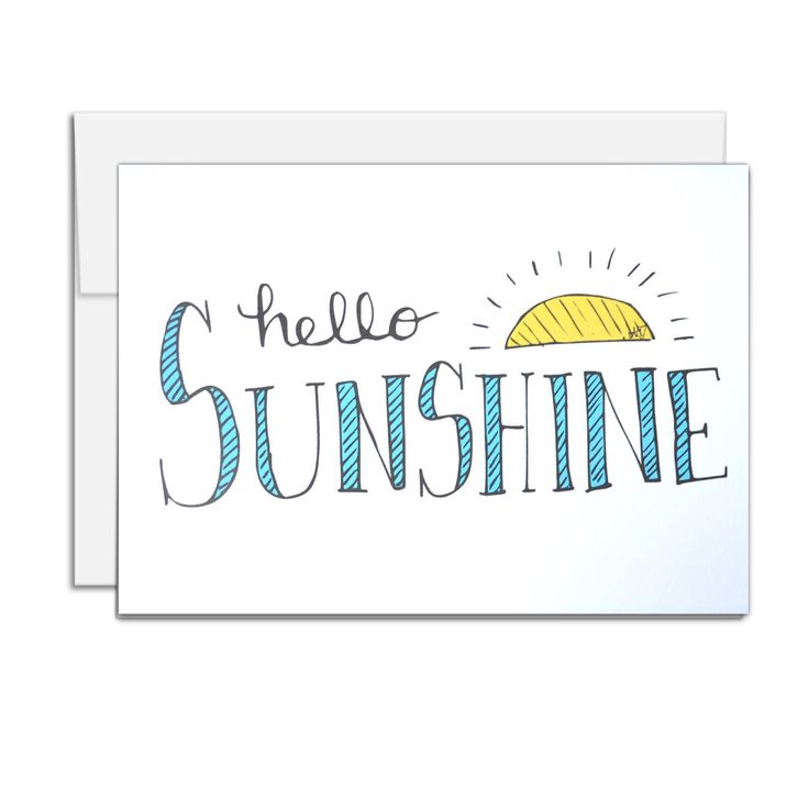 All Occasion Card, Hello Sunshine, Thank you card, thinking of you card, card for her by AMTaylorArt on Etsy https://www.etsy.com/ca/listing/399605099/all-occasion-card-hello-sunshine-thank
