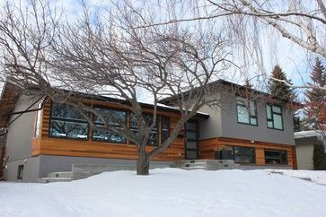 Split-Level Entry Remodel | University Heights Split Level - contemporary - exterior - calgary ...