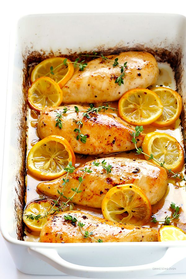 This baked lemon chicken recipe is perfectly juicy and tender, easy to make, and full of the BEST fresh lemony flavor.