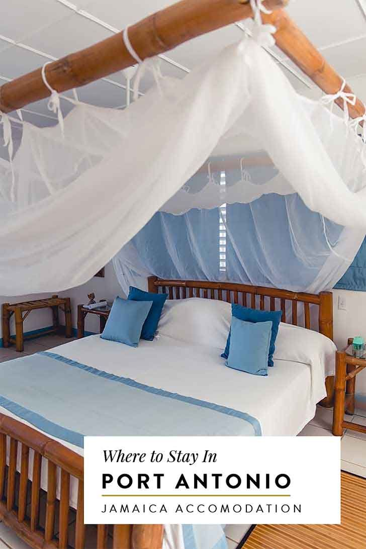 Hotel recommendations for where to stay in Port Antonio Jamaica. From eco chic boutiques to luxury hotels like the Trident, click through to read all the suggestions.