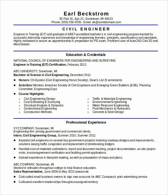 23 Civil Engineering Resume Examples In 2020 Engineering Resume