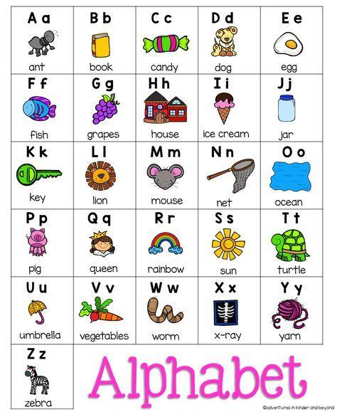 Alphabet Chart Pre Centers Pinterest Alphabet Charts