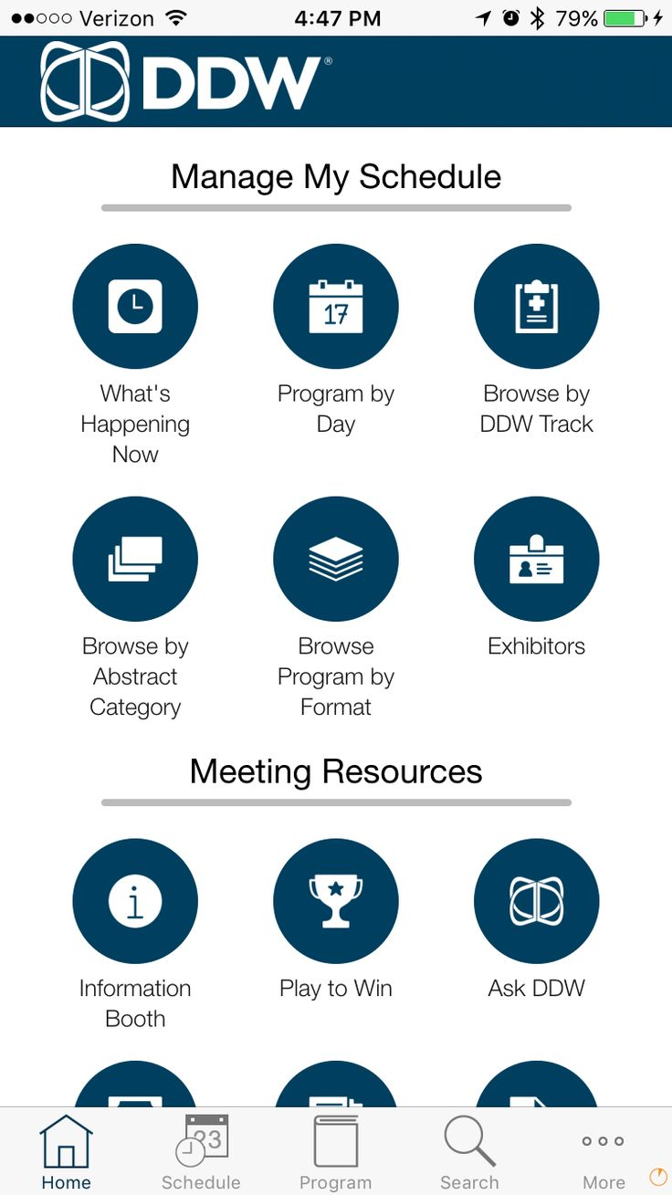 Highly customized HOME screen in EventPilot conference app for medical #meetings…