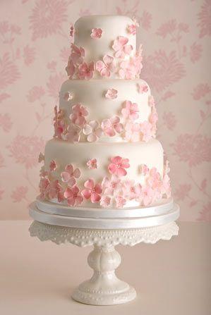 pink wedding cake - Google-haku