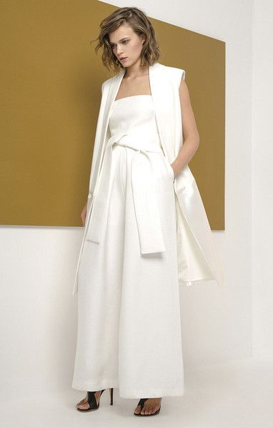 wake me pantsuit - ivory by cameo available in xs, s, m, l