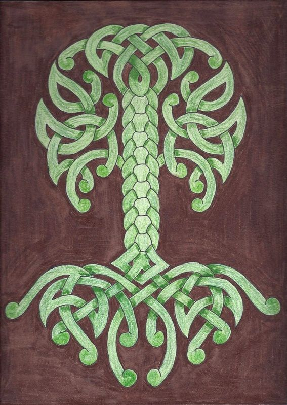 Celtic Tree of Life in Celtic Knotwork