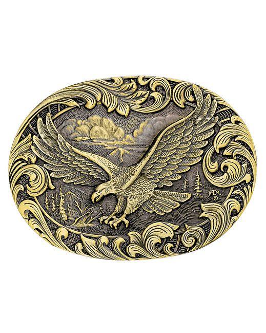 Montana Silversmiths Soaring Eagle Brass Attitude Buckle