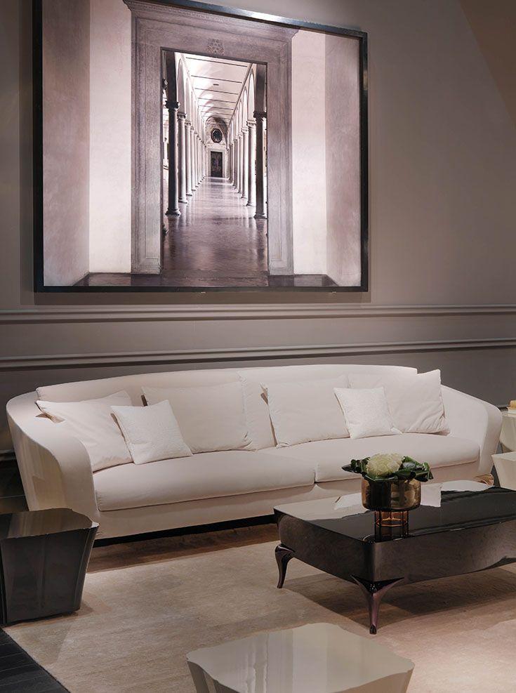 Paul Mathieu - Cara sofa and coffee table www.luxurylivinggroup.com #PaulMathieu #LuxuryLivingGroup