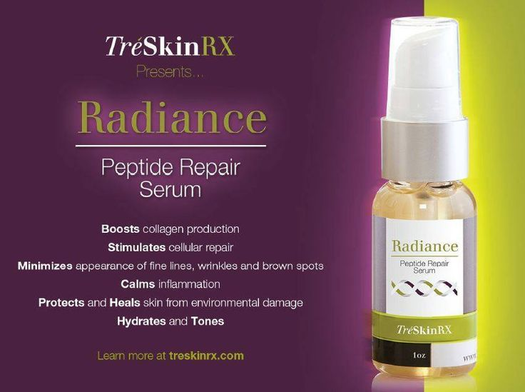 To learn more about Radiance Peptide Repair Serum, click on picture to view TreSkinRX video.