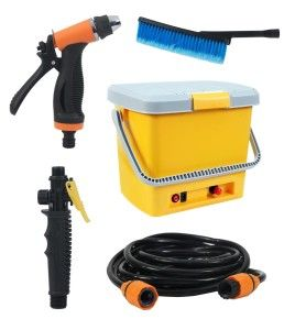 Torra Introduces an amazing washing experience with Next gen Portable Auto Pressure Car Washer. This automatic car washer is a best portable product. It is equipped with 16 liters tank, spray gun, chenille glove, 6 meter hose, washing brush, brush connector and power cable with car socket charger. Torra International provides you the best offer. If you buy this Next Gen Portable Auto Pressure Car Washer you would be highly satisfied and recommend to all your friends.