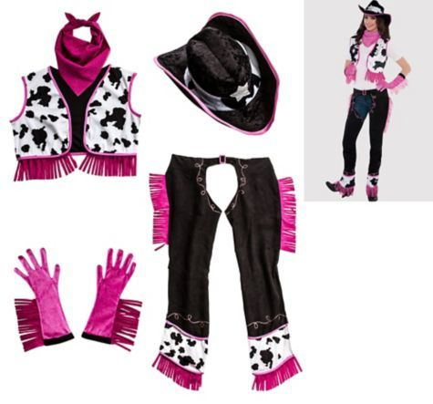 inspiration for DIY cowgirl halloween costume Rodeo Cowgirl Accessory Kit for Women - Party City