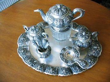 djokja zilveren theeservies