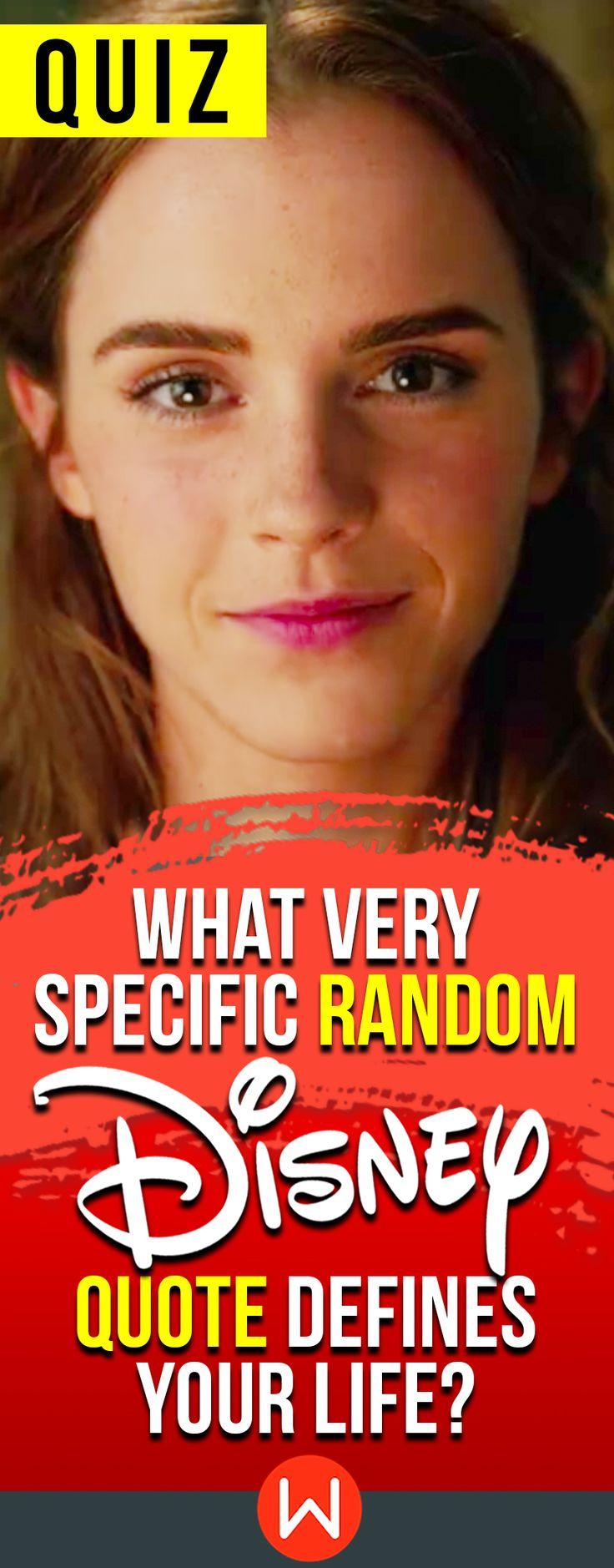 Quiz: What very specific random Disney quote defines your life? Disney Quiz, Personality test, Disney Personality quiz, Fun quiz, girl quiz, Beauty And the Beast, Quotes Quiz.