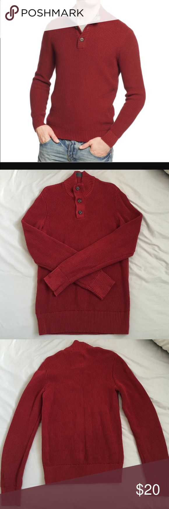 American Rag textured mock neck sweater Only worn once. Like new condition. No stains no flaw. American Rag Sweaters