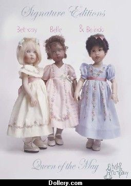 Helen Kish Queen of the May Collection - Bethany, Belle and Belinda dolls 2003thany