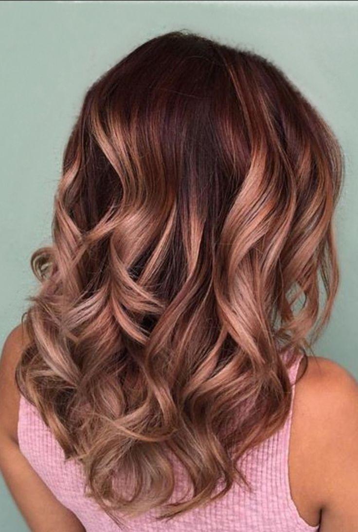 Frencheconomie Winter 2019 Die Heissesten Frisuren Und Farben Rosegold Hair Color Rose Gold Hair Styles Brunette Hair Color
