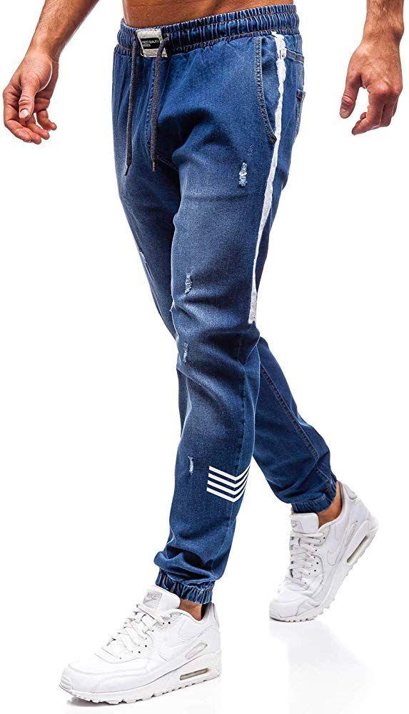 Bolf Hombre Pantalon Vaquero Jogger Denim Estilo Urbano Otantik 2055 Azul Oscuro S 6f6 Pantalones De Hombre Moda Ropa Para Hombres Jovenes Ropa Gym Hombre
