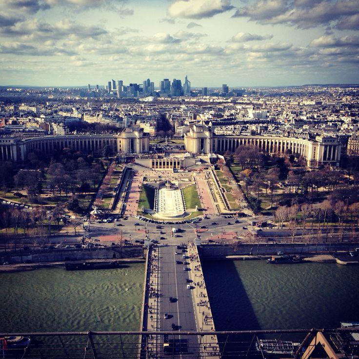 Paris view from tour Eiffel