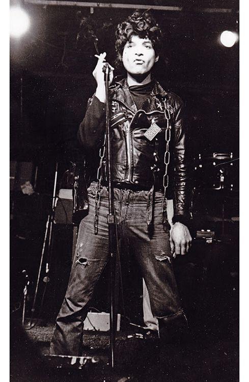 Alan Vega by Mykel Board, CBGBs, NYC late 1970s