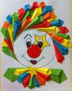 tête de clown en pliage