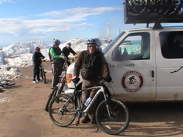 Pikes Peak By Bike, ride down the 14,115 ft mountain - exhilarating!