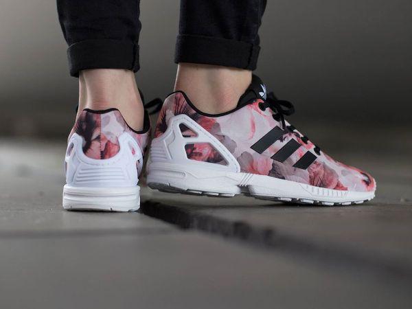 adidas zx flux rose a fleur