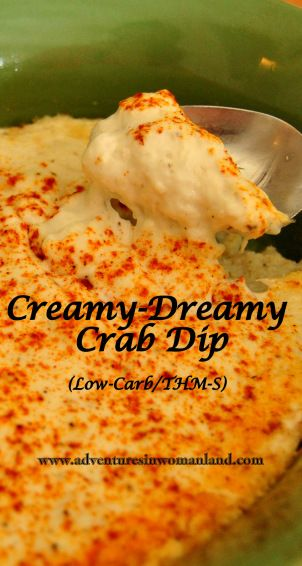 Creamy-Dreamy Crab Dip (THM-S/Low-Carb) from www.adventuresinwomanland.com