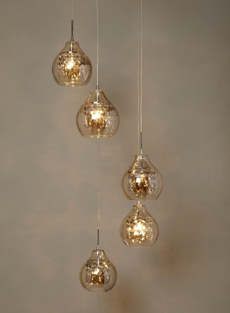 Bedroom Ceiling Lights Bhs : Gold azalea light cluster pendant ceiling lights
