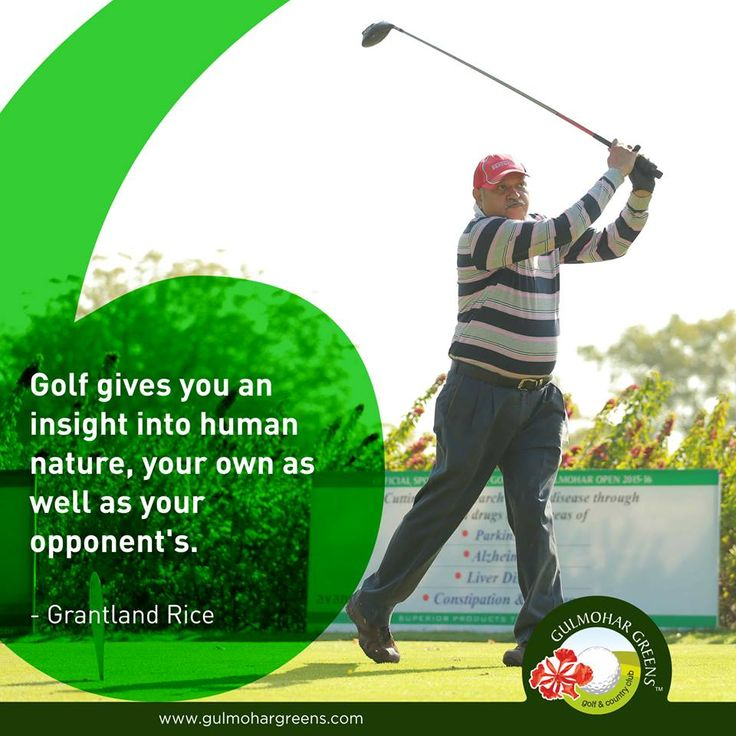 #GolfQuote Golf is an adventurous game where you discover and sharpen your strategy and your opponent's strategy as well.