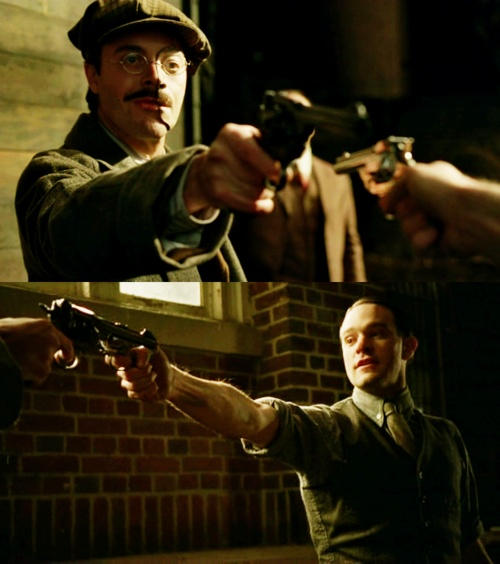 Jack Huston as Richard Harrow and Charlie Cox as Owen Slater in Boardwalk Empire. BOTH OF THEM = <3