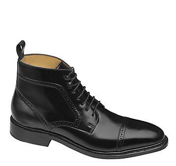 HUTCHINS CAP TOE BOOT - Black European Calfskin from Johnston & Murphy.  Latest addition to the closet!