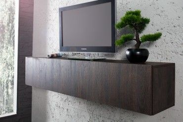 Moderner Design CUBE Wenge Wandregal TV Board made in Italy