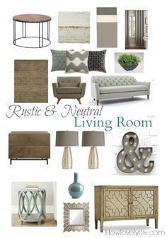 Rustic & Neutral Living Room Mood Board | How Lovely It Is…