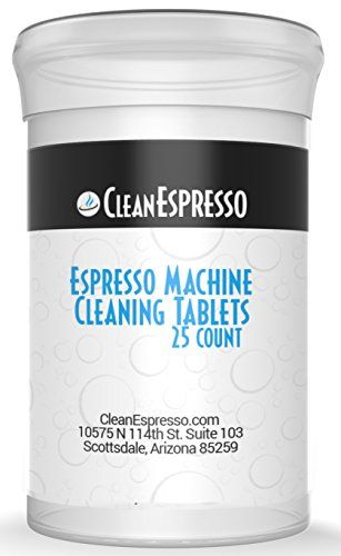 (25 Pack) Jura Espresso Machine Cleaning Tablets - CleanEspresso Model JU-25 - For Jura Espresso Machines  *In Stock, Ready To Ship Today. New & Updated Packaging to protect the tablets!  *Get The Ultimate Cleaning Experience With Precision Cleaning  *Cleaning Tablets Designed For Use With All Models of Jura: Capresso, Ena, Impressa series and more.  *Get Better Tasting Espresso & Cappuccino By Removing Oily BuildUp Inside Your Machine and Keeping its Parts Clean.  **100% NO QUESTIONS ...