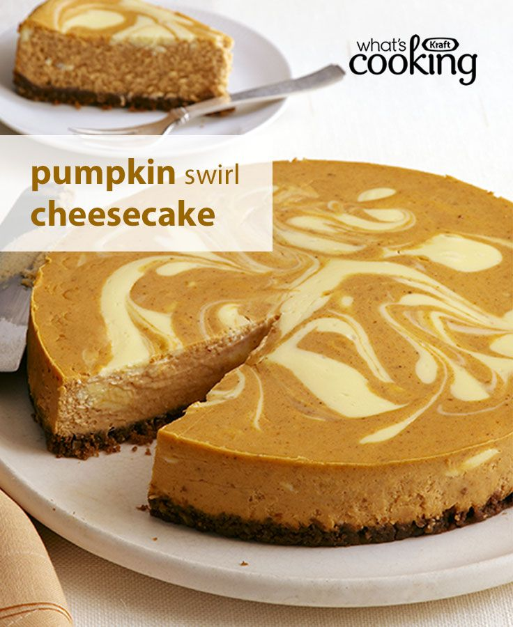 One of our best-loved cheesecake recipes, discover what makes this Pumpkin Swirl Cheesecake a fan favourite. Could it be its lovely swirl? Is it the delightful pumpkin spice flavour? Is it the smooth and creamy texture? Make it for your #Thanksgiving feas (Thanksgiving Pies Gluten Free)