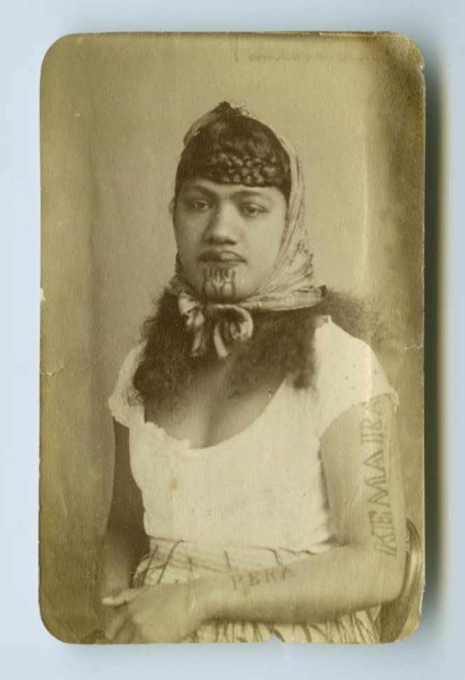 American Photo Company (Auckland) fl 1870s : [Maori portrait - Woman]