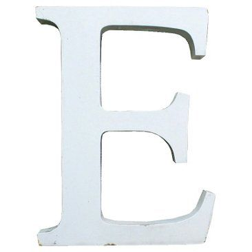 Check out this item at One Kings Lane! White Marquee Letter E