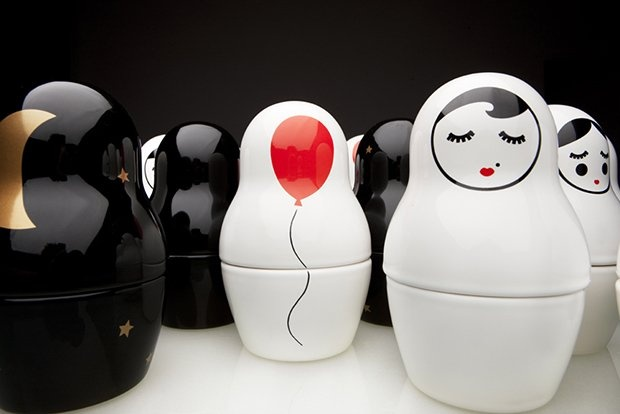 Cute Last Minute Gift: BABA, Hand-Made Matryoshka Dolls by SIESTA
