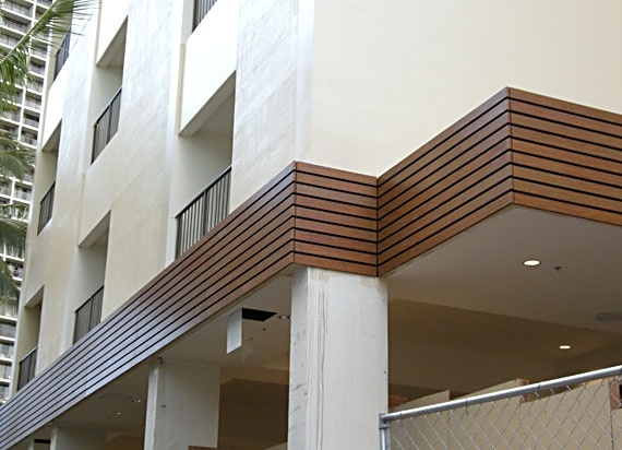 Aluminum Awnings with wood look