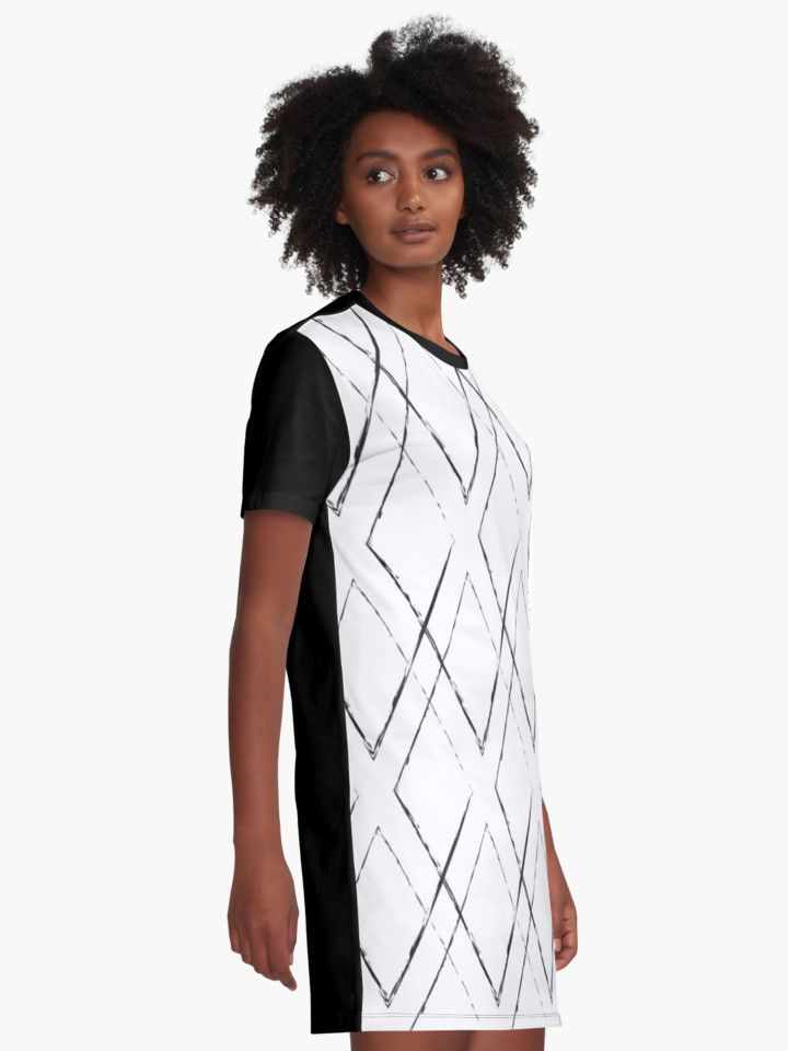 Geometric monochrome diamond pattern by LunaPrincino #lunaprincino #redbubble #print #prints #art #design #designer #graphic #clothes #for #women #apparel #shopping #tshirt #dress #fashion #style #pattern #geometric #geometry #ornament #lines #diamond #rhombus #grunge #black #and #white #monochrome #ink