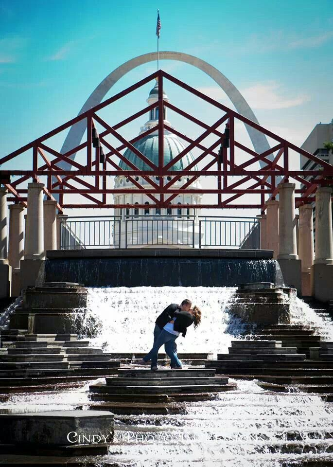 Engagement photo in St. Louis