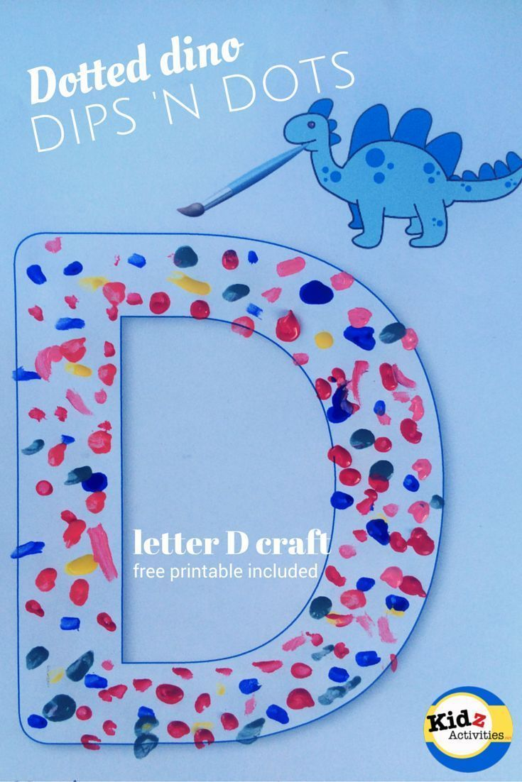 Letter D craft: dips n dots