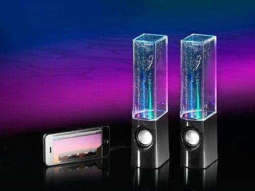 Coole Wasser Lautsprecher mit bunten Lichteffekten für #iPhone #iPad und Co.