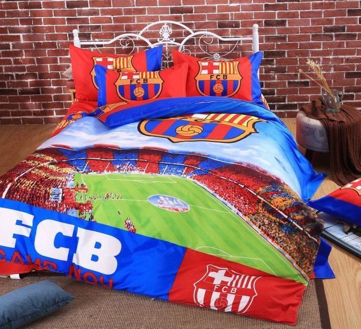 Home Textile Famous European Soccer Team Bedding Set 3/4pcs Bed Linen Include Duvet Cover Bed Sheet Pillow Cases Twin Queen Size #DoubleBedSheets