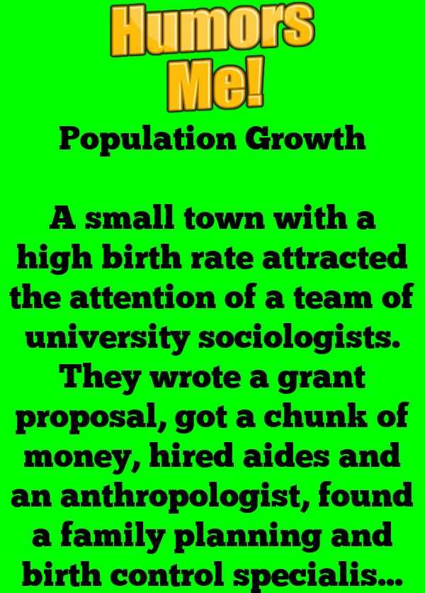 Population Growth Humor Growth Jokes