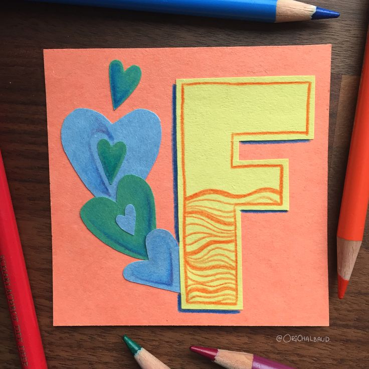 Letter F!. This is part of a paper art type I'm making for 36 days of type and also part of my 100 days project about paper art! :)