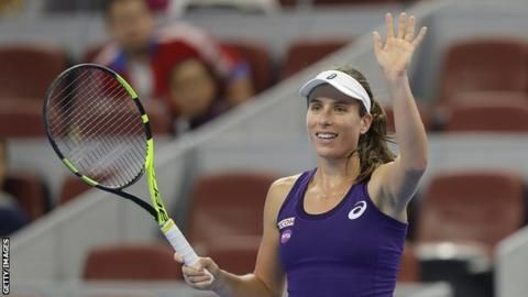 British number one Johanna Konta moved into the world top 10 after reaching the final of the China Open by beating Madison Keys 7-6 (7-1) 4-6 6-4.   She is only the fourth British woman to make the top 10 since the WTA rankings began in 1975 - after Durie, Virginia Wade and Sue Barker.