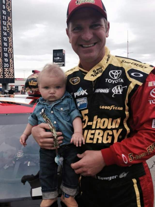 Clint Bowyer and the little one
