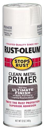 Rust-Oleum® Stops Rust® Clean Metal Primer Spray Paint - 12 oz at Menards®: Rust-Oleum® Stops Rust® Clean Metal Primer Spray Paint - 12 oz